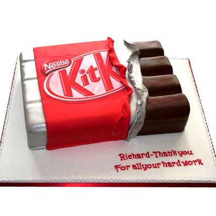 Kit Kat Shaped Cake 2kg Eggless