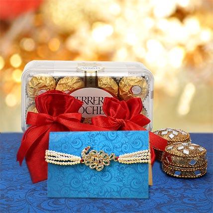 Kundan Rakhi Gift