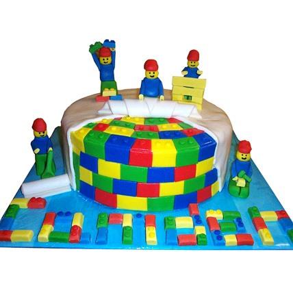 Lego Fondant Cake 5kg Eggless