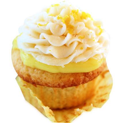 Lemon Surprice Cupcakes 24 Eggless
