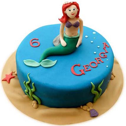 Little Mermaid Cake 4kg Eggless