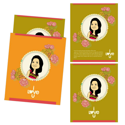 Love Dance Caricature Card