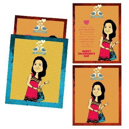 Love garden Caricature Card