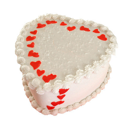 Lovely Heart Shape Cake 1kg Eggless