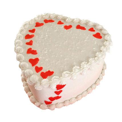 Lovely Heart Shape Cake Half kg Eggless
