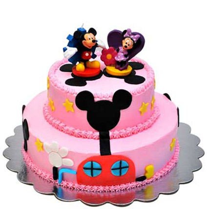 Lovely Mickey Minnie Cake 2kg