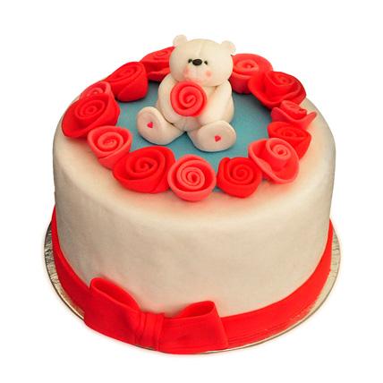 Lovely Teddy Bear Cake 2kg Eggless