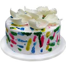 Lovely Vibrant Holi Cake 1kg Eggless