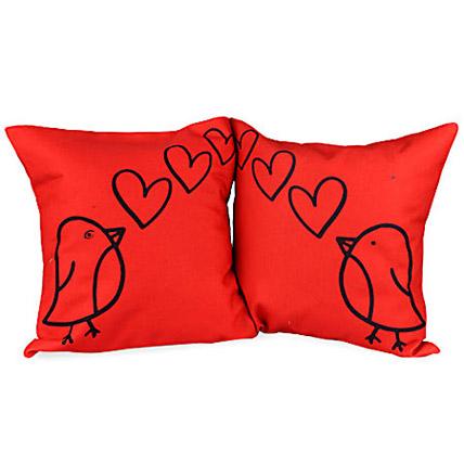 Loving Birds Couple Cushions