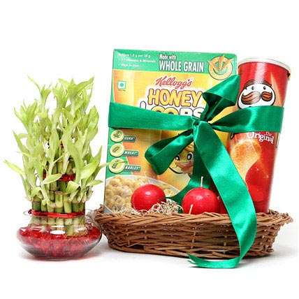 Lucky Bamboo and Snack Hamper