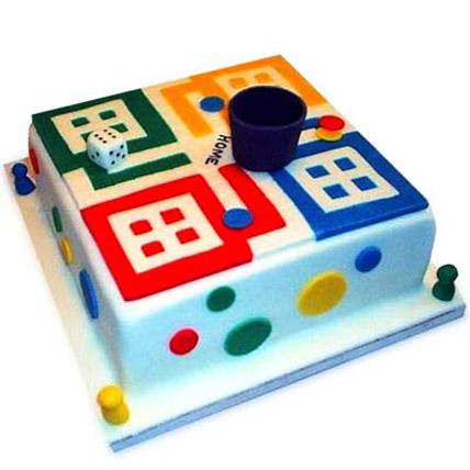 Ludo Artistic Birthday Cake 2kg Eggless