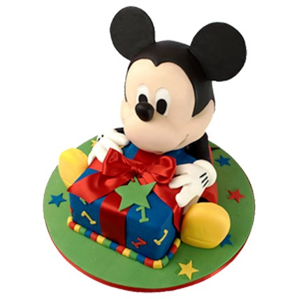 Mickey Mouse Theme Cake 4kg Eggless