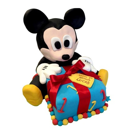 Micky Mouse Gift Cake 3kg Eggless