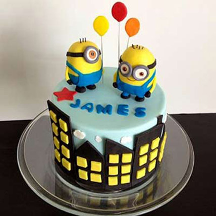 Minions with balloons 2kg Eggless
