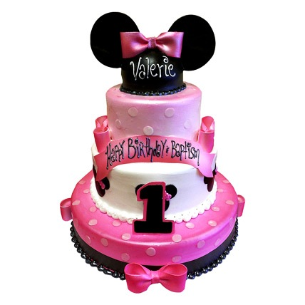 Minnie Mouse 3 Tier Cake 8kg