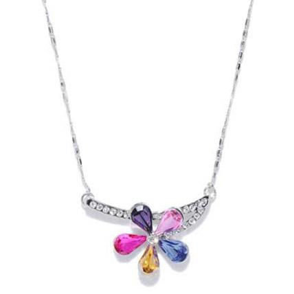 Multi Coloured Flower Necklace