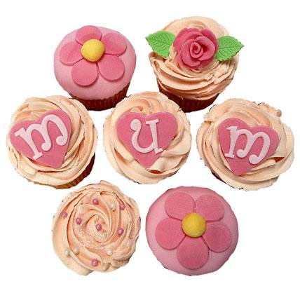 Mum Cupcakes 6 Eggless
