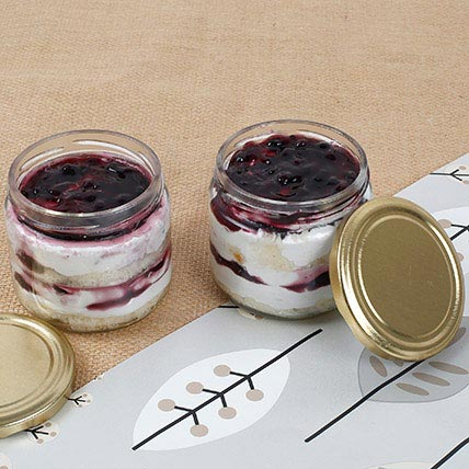 Set Of 2 Mysterious Blueberry Jar Cake