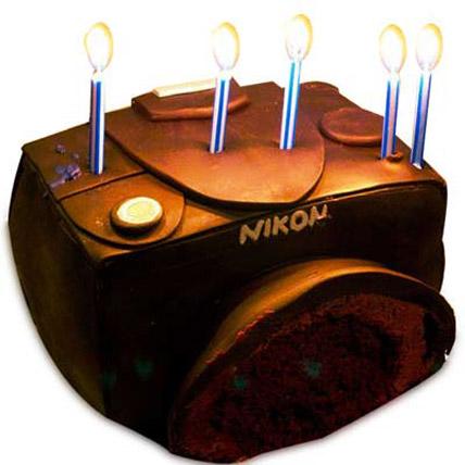 Nikon Sporty Camera Cake 3kg Eggless