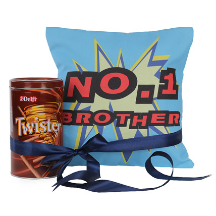 No 1 Brother Cushion With Twister