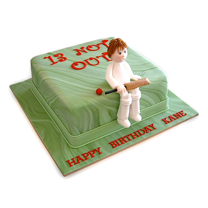 Not Out Cricket Cake 1kg