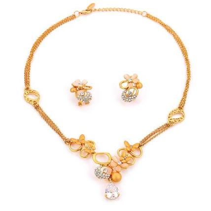 Novel Style Multilayer Floral shaped Jewelry Sets