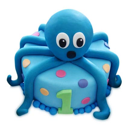 Octopus Cake 3Kg Eggless Chocolate