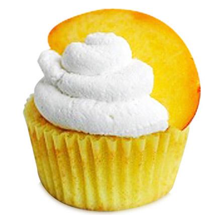 Peaches and Cream Cupcakes 24 Eggless