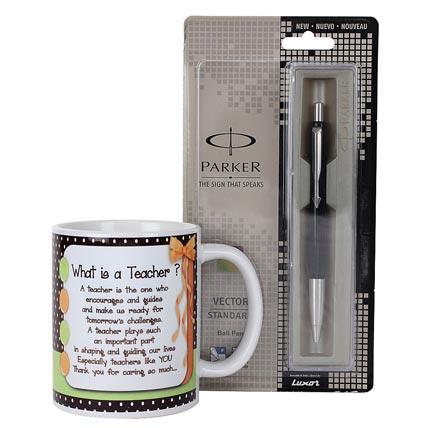 Pen and Mug For Teacher