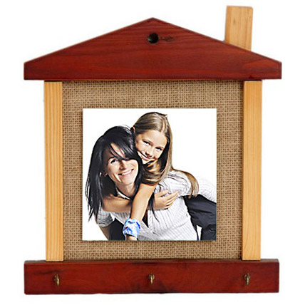 Personalised Hut Shaped Key Holder For Mom