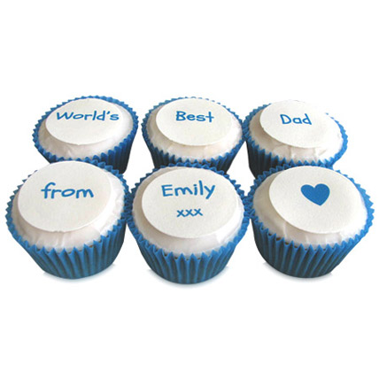 Personalized Message Cupcakes 12 Eggless