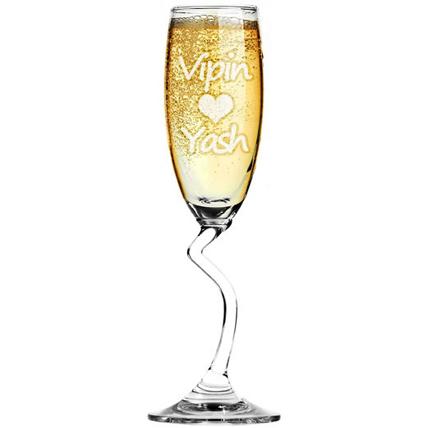 Personalized Salsa Champagne Flute