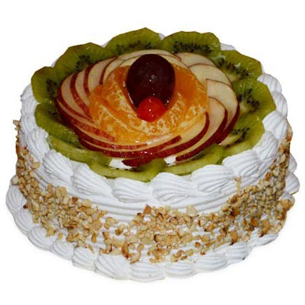 Pineapple And Fruits Cake 1kg Eggless