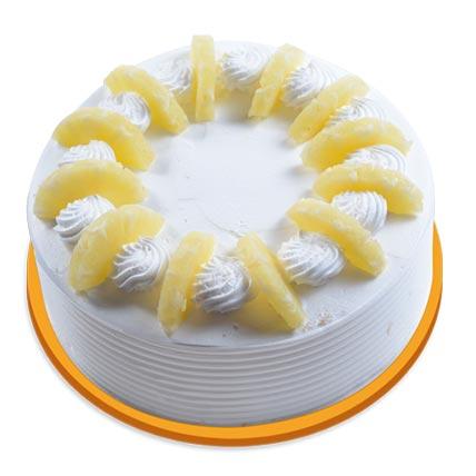 Pineapple Round Cake Half kg