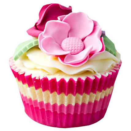 Pink Flower Cupcakes 12 Eggless
