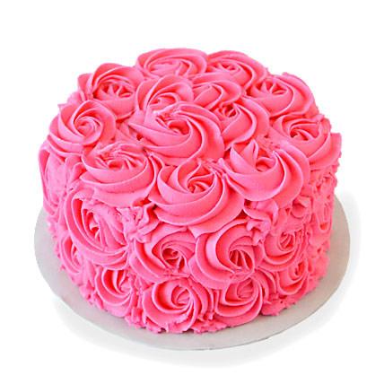 Pink Rose Cake Half kg