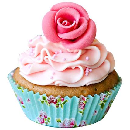 Pink Rose Cupcakes 6 Eggless