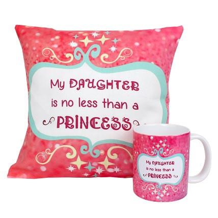 Princess Daughter Cushion and Mug