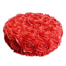 Red Rose Cake 1kg Eggless