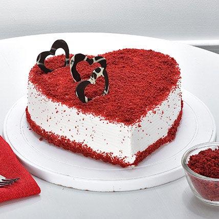 Red Velvet Heart Cake 1kg Gift Red Velvet Heart Cake 1kg ...