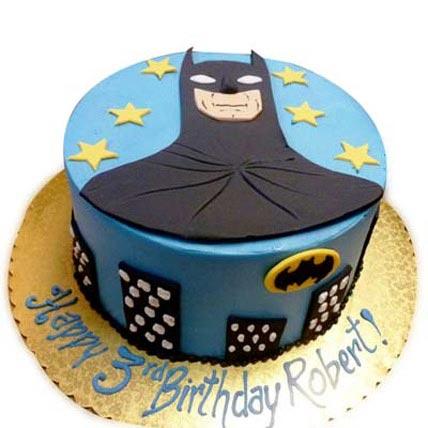 Shiny Batman With Stars 4Kg Eggless Chocolate