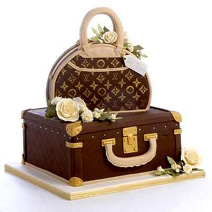 Showy LV Bag Cake 5kg Eggless