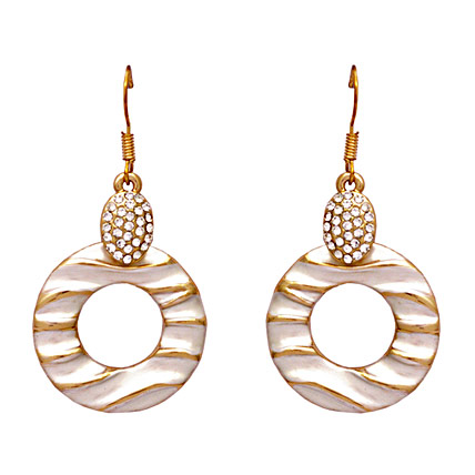 Silver Toned and Gold Plated Drop Earrings