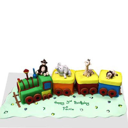 Small train with animals 2kg Eggless