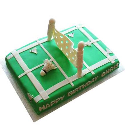 Smashing Badminton Court Cake 2Kg Eggless Chocolate