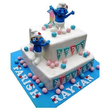 Smurfs Birthday Cake 5kg