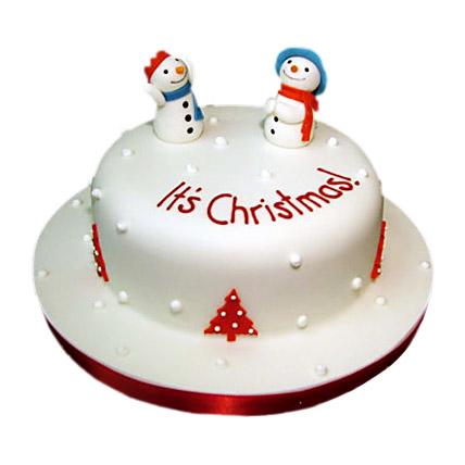 Snowman Christmas Cake 3kg Eggless