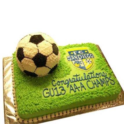 Soccer Cake 3kg Eggless