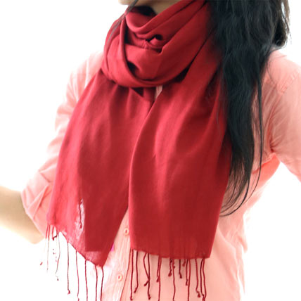 Solid Red Scarf