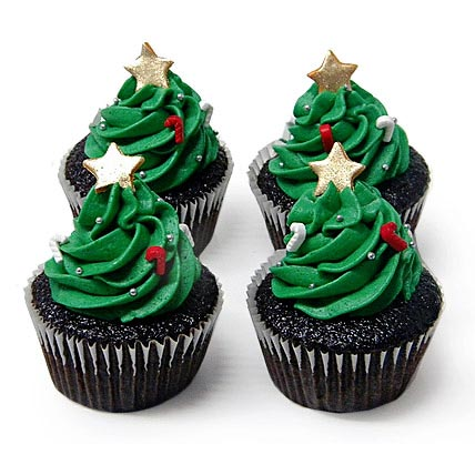 Special Christmas Tree Cupcakes 12 Eggless